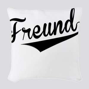 Freund, Retro, Woven Throw Pillow
