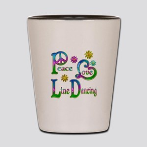 Peace Love Line Dancing Shot Glass