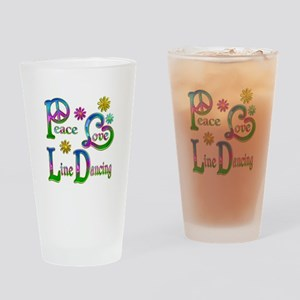 Peace Love Line Dancing Drinking Glass