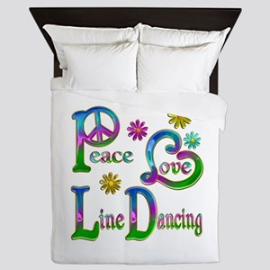Peace Love Line Dancing Queen Duvet