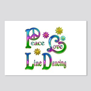 Peace Love Line Dancing Postcards (Package of 8)