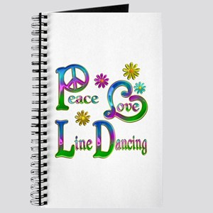 Peace Love Line Dancing Journal