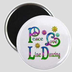 Peace Love Line Dancing Magnet