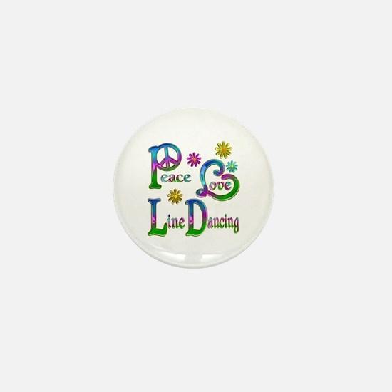 Peace Love Line Dancing Mini Button