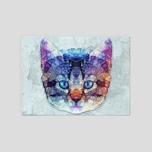 abstract kitten 5'x7'Area Rug