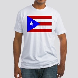 Puerto Rican Flag Fitted T-Shirt
