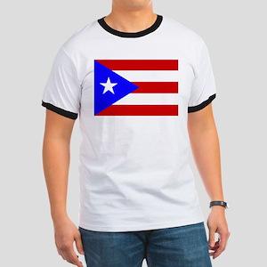Puerto Rican Flag Ringer T