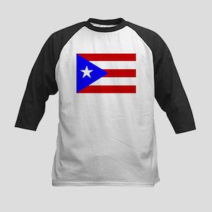 Puerto Rican Flag Kids Baseball Jersey