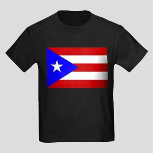 Puerto Rican Flag Kids Dark T-Shirt