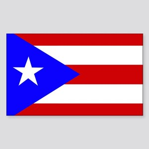 Puerto Rican Flag Rectangle Sticker