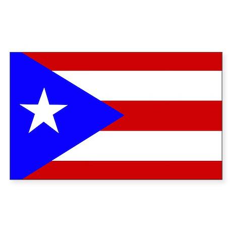 Puerto Rican Flag Rectangle Sticker