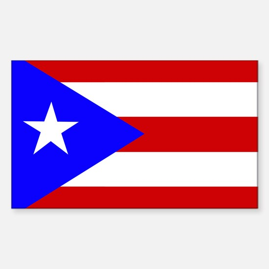 Puerto Rican Flag Rectangle Stickers