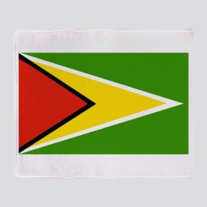 Guyana Flag Throw Blanket