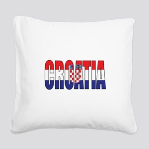 Croatia Square Canvas Pillow