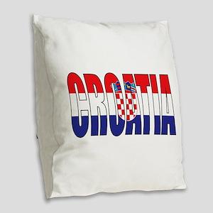 Croatia Burlap Throw Pillow