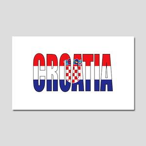 Croatia Car Magnet 20 x 12