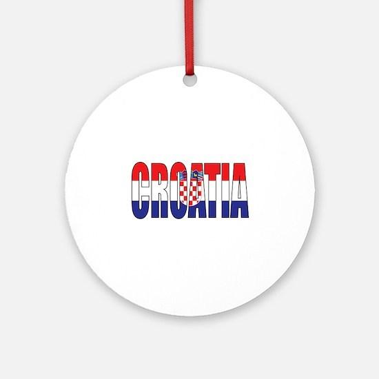 Croatia Round Ornament