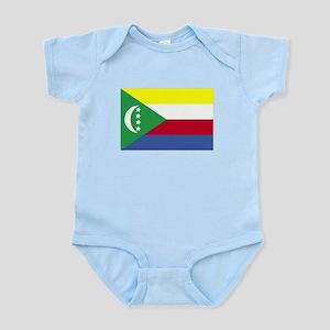 Comoros Flag Body Suit
