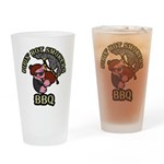 Pipin Hot Smokers Pig Logo Drinking Glass