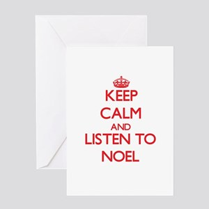 Keep Calm and Listen to Noel Greeting Cards