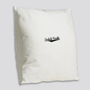 Garfield Heights, Retro, Burlap Throw Pillow