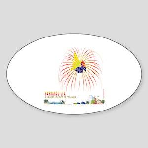 Barranquilla Oval Sticker
