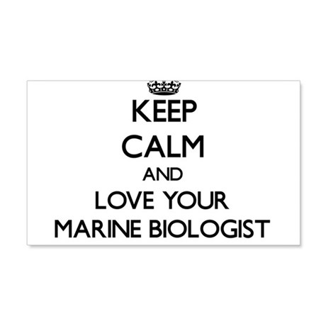 Keep Calm and Love your Marine Biologist Wall Deca by