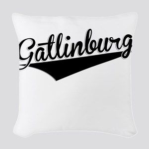 Gatlinburg, Retro, Woven Throw Pillow