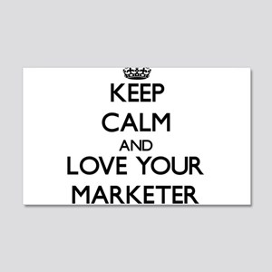 Keep Calm and Love your Marketer Wall Decal
