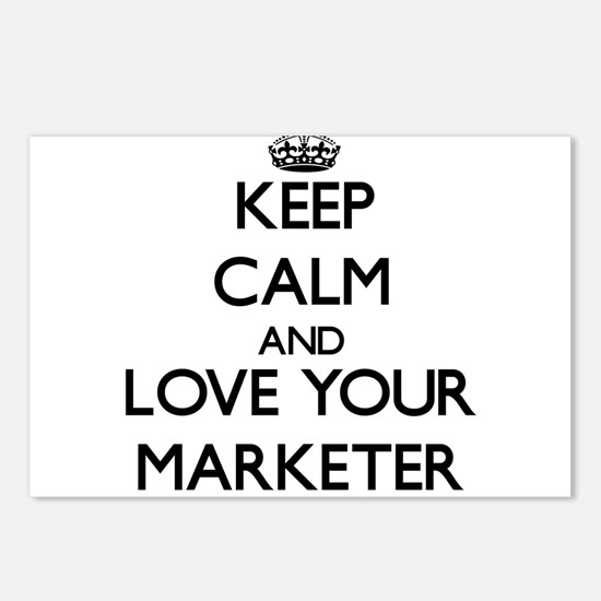 Keep Calm and Love your Marketer Postcards (Packag