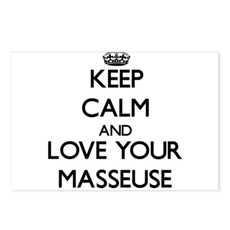 Keep Calm and Love your Masseuse Postcards (Packag by