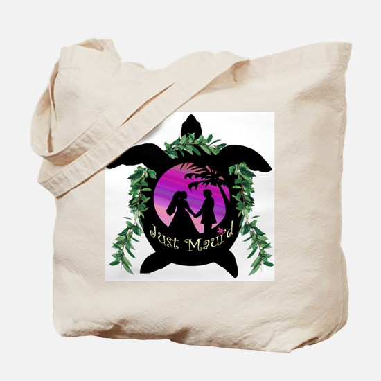 Just Maui'd Honu Logo Tote Bag