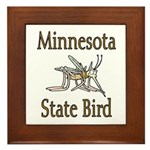 Minnesota State Bird Framed Tile