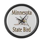 Minnesota State Bird Large Wall Clock
