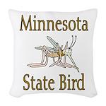 Minnesota State Bird Woven Throw Pillow