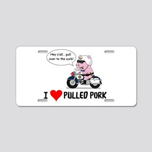 I Heart Pulled Pork Aluminum License Plate