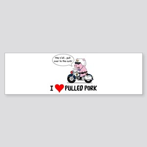 I Heart Pulled Pork Bumper Sticker