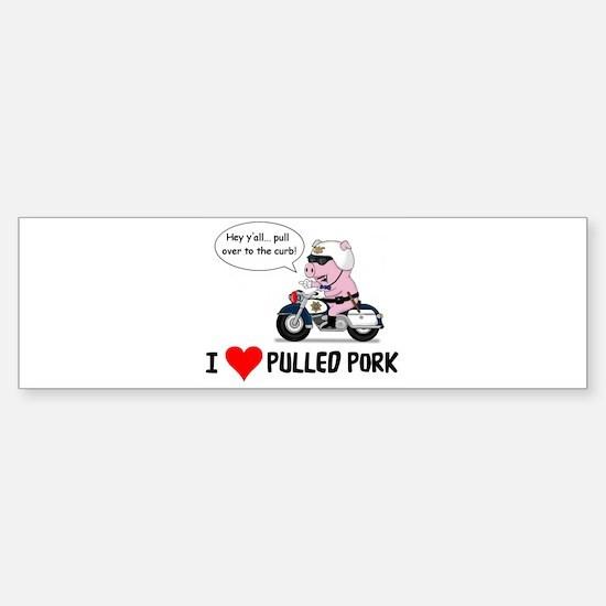 I Heart Pulled Pork Bumper Bumper Bumper Sticker