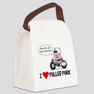 I Heart Pulled Pork Canvas Lunch Bag