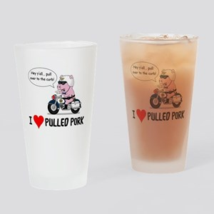 I Heart Pulled Pork Drinking Glass