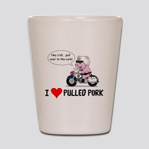 I Heart Pulled Pork Shot Glass