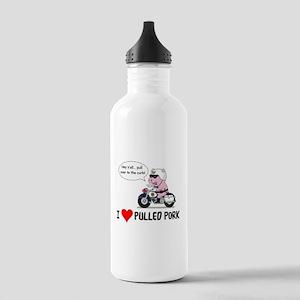 I Heart Pulled Pork Water Bottle