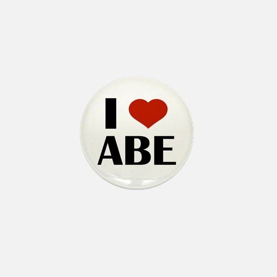I Heart Abe Mini Button