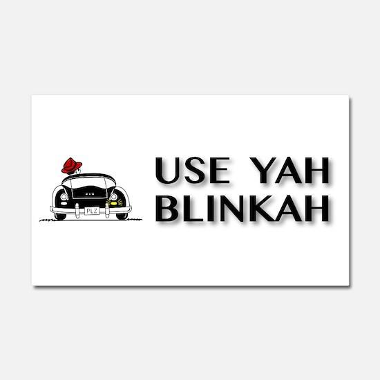 Use Yah Blinkah Car Magnet 20 x 12