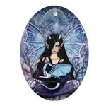 Sapphire Dragon Fairy Gothic Fantasy Art Ornament