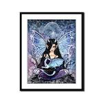 Sapphire Dragon Fairy Gothic Fantasy Art Framed Pa