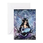 Sapphire Dragon Fairy Gothic Fantasy Art Greeting