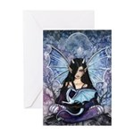 Sapphire Dragon Fairy Gothic Fantasy Art Greeting