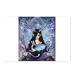 Sapphire Dragon Fairy Gothic Fantasy Art Postcards