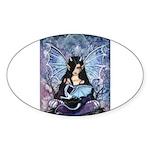 Sapphire Dragon Fairy Gothic Fantasy Art Sticker